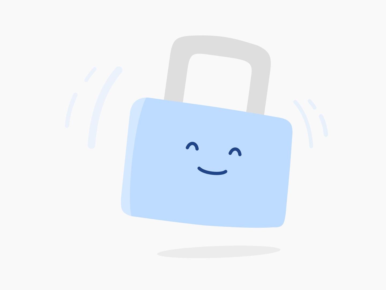 Happy padlock sketch