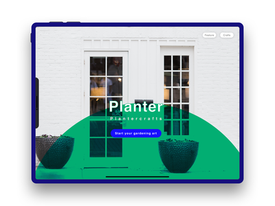 """Planter Crafts"" online Store Apps - User Landing Interface"