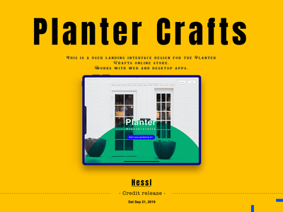 "Rebound of ""Planter Crafts"" online Store 4K"