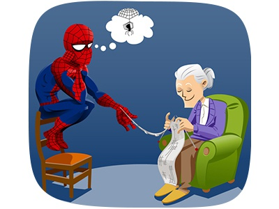 Spiderman bored spiderman grandmother fanart