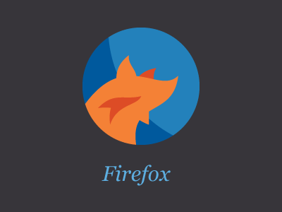 Firefox icon browser firefox flat design
