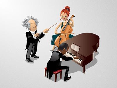 Symphony & Symfony cellist cello pianist piano symphony symfony rubbik