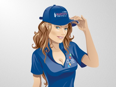 Miss Globe 02 miss water cap woman identity globe illustration vector rubbik