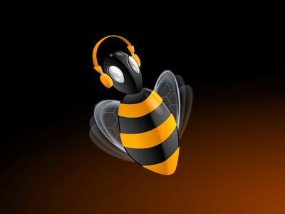 Ubee bee music illustration rubbik