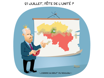 21 juillet - Fête nationale Belge illustration humour rubbik