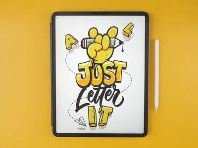 JUST Letter IT! procreate app sketch art video procreate calligraphy hand lettering lettering typography