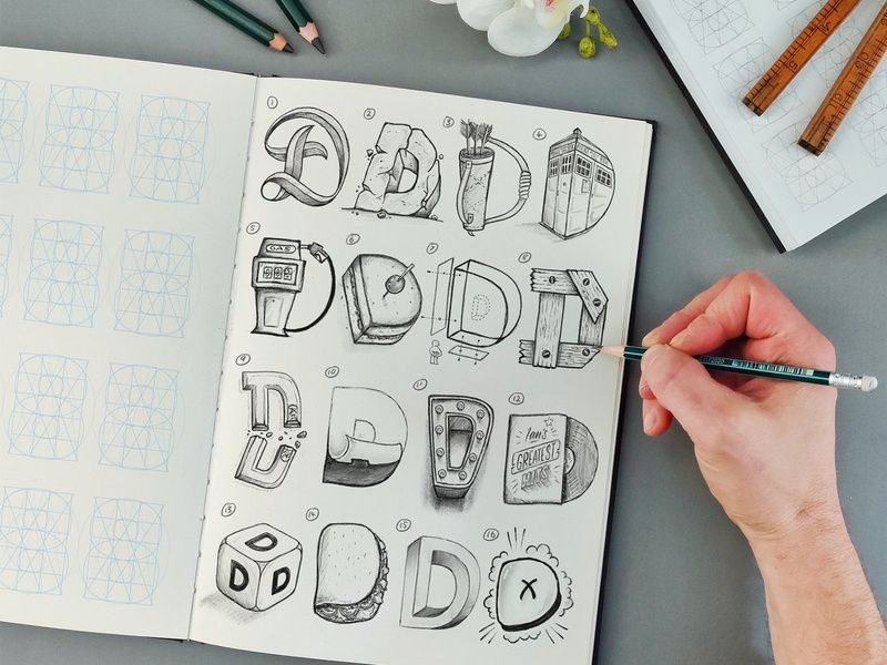 16 Types of D design illustration type brush calligraphy hand lettering lettering typography