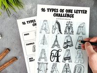 16 types of letter challenge