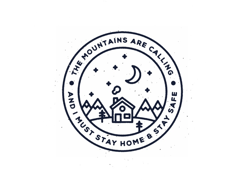 The Mountains are Calling pen illustrator design texture photoshop brush calligraphy hand lettering lettering typography