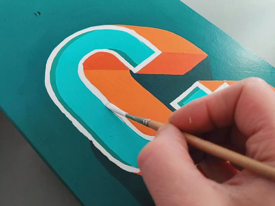 3D Ampersand paint art dimension 3d type calligraphy hand lettering lettering typography
