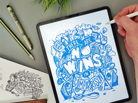 There are No Wins in comparison doodle procreate illustrator design illustration calligraphy hand lettering lettering typography