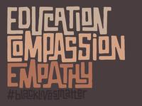 #blacklivesmatter blacklivesmatter brush type calligraphy hand lettering lettering typography
