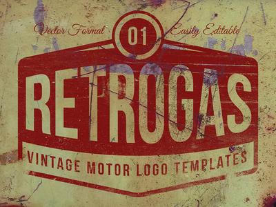 Retrogas Vintage Logos - Vector Templates
