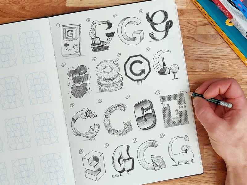 16 Types of Letter G sketch letters illustration type calligraphy hand lettering lettering typography