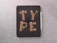 WoodType procreate video design illustration calligraphy hand lettering lettering typography
