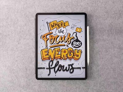 Focus procreate video brush type calligraphy hand lettering lettering typography