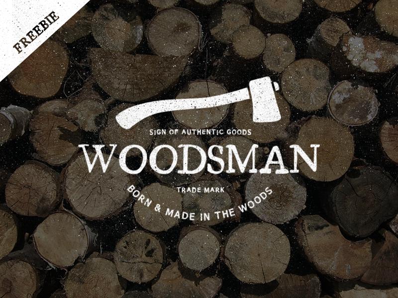 Vintage Woodsman Logo - Freebie vintage retro grunge texture background logos branding insignia template vector wood clothing