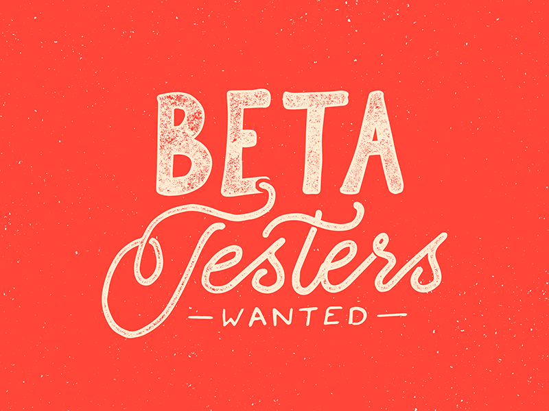 Beta Testers Wanted hand lettering lettering typography sketch pencil ink drawing creative market texture calligraphy letters hand drawn
