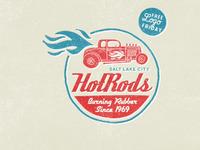 Hotrods logo typography
