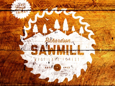 Sawmill - Freebie freebie logos branding vintage retro badges typography grunge backgrounds templates vector illustrator