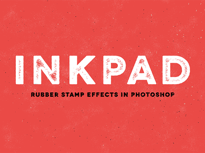 InkPad creative market hand lettering photoshop illustrator grunge texture vector brush script