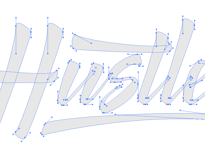 Hustle Curves hand lettering lettering typography type calligraphy pen ink sharpie marker brush