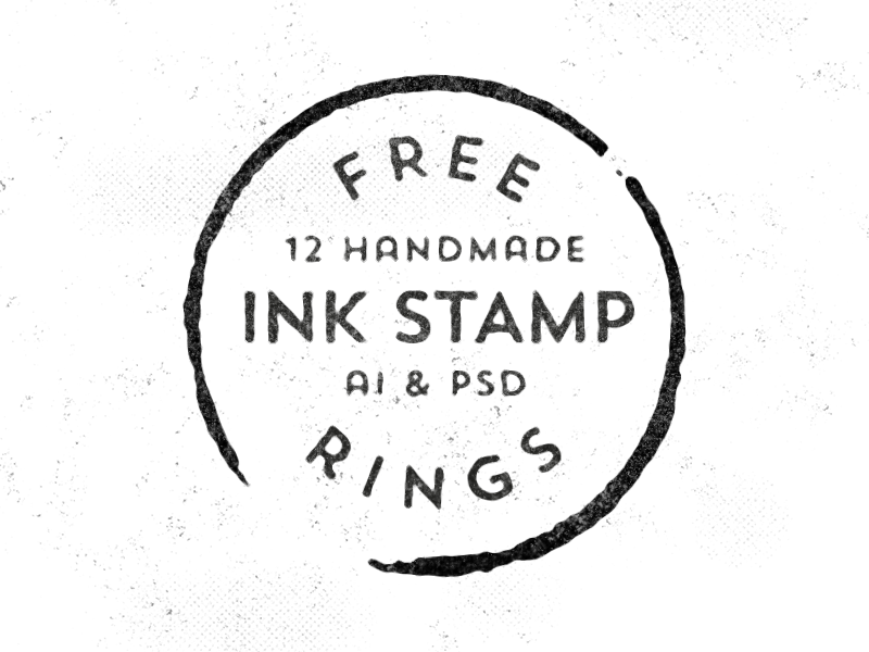 12 Free Handmade Stamp Rings free freebie vectors handmade illustrator photoshop stamp ink print vintage retro