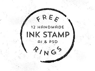 12 Free Handmade Stamp Rings free freebie vectors handmade illustrator photoshop stamp ink print vintage retro