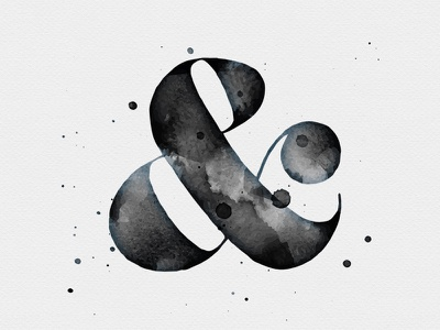 Ampersand vector watercolour watercolor effects textures illustrator paint brush inks