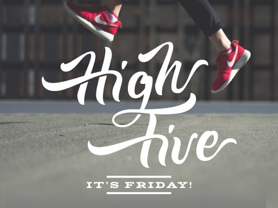 High Five No.2 brushscript clothing skate surf bezier curves vector lettering typography calligraphy brush hand lettering