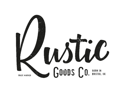 Rustic Goods Co. brushscript goods furniture shop bezier curves vector lettering typography calligraphy brush hand lettering