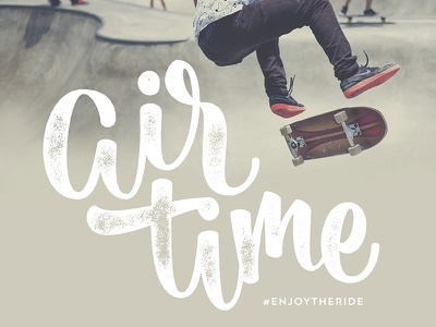 Air Time brushscript clothing skate surf bezier curves vector lettering typography calligraphy brush hand lettering