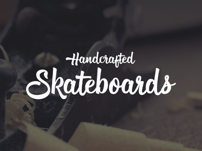 Handcrafted Skateboards brush script skateboards illustrator vector typography lettering font typeface
