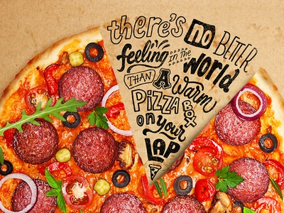 Warm Pizza Box texture words photo type hand drawn typography lettering pizza hanlettering