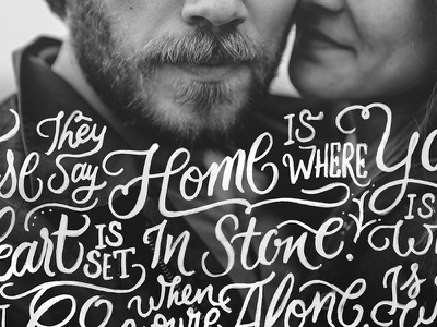 Home photoshop photography typography lettering calligraphy lyrics song hand lettering
