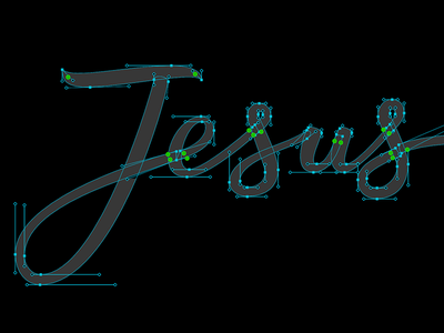 Jesus Handles brushscript charity bezier curves vector lettering typography calligraphy brush hand lettering