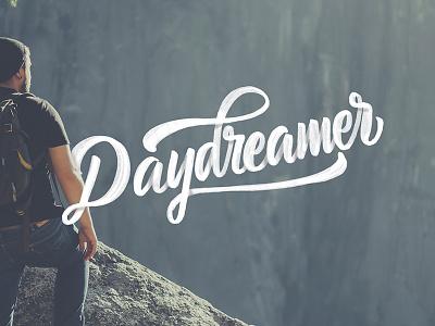 Daydreamer brushscript clothing skate surf lettering typography calligraphy brush hand lettering