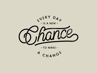 Make a Change brushscript bezier curves vector lettering typography calligraphy brush hand lettering
