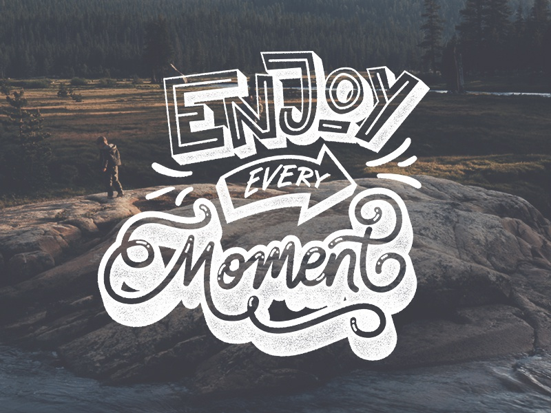 Enjoy every Moment tutorial youtube unsplash lettering typography calligraphy brush hand lettering