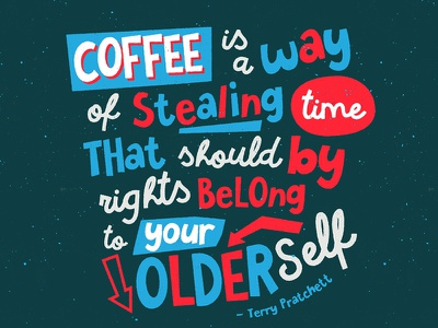 Older Self posters vector typography sans lettering illustrator products creative market