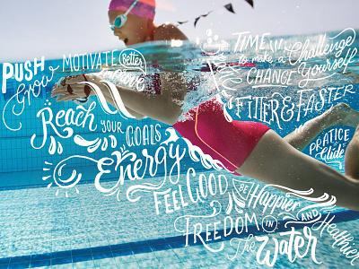 Speedo Hand Lettering swimming sports speedo lettering typography calligraphy brush hand lettering