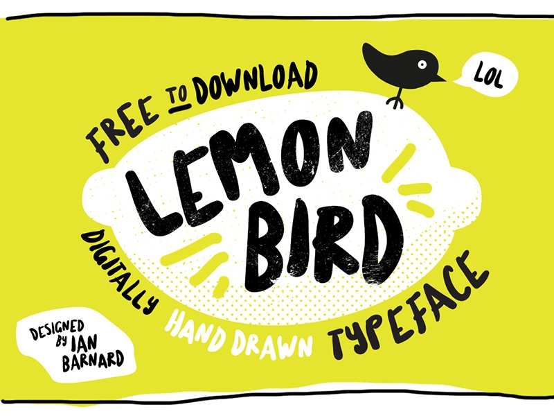 Lemon Bird Typeface typography typeface download calligraphy lettering font free