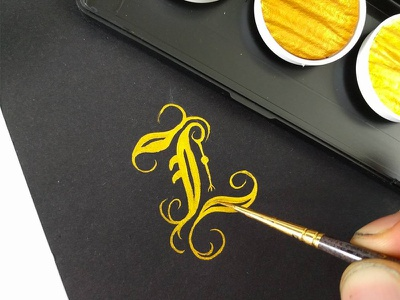Black & Gold hand lettering lettering calligraphy typography inks gold gothic blackletter