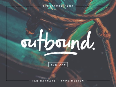 Outbound typeface font lettering typography calligraphy brush hand lettering