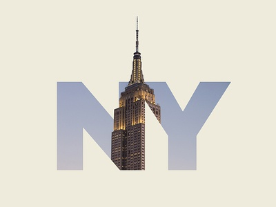 NY photography lettering typography double exposure