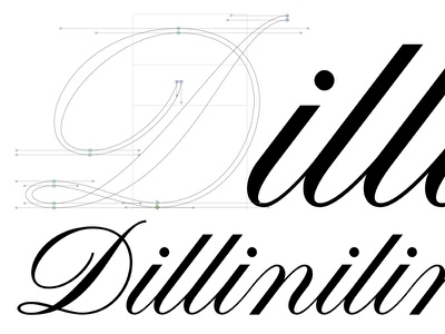 Dillinilinilinilu typeface alphabet copperplate letters font typography lettering calligraphy