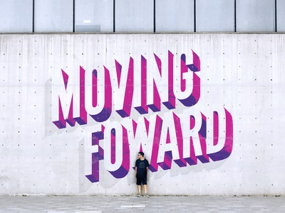 Moving Forward font calligraphy lettering type typography letter illustrator photoshop vector