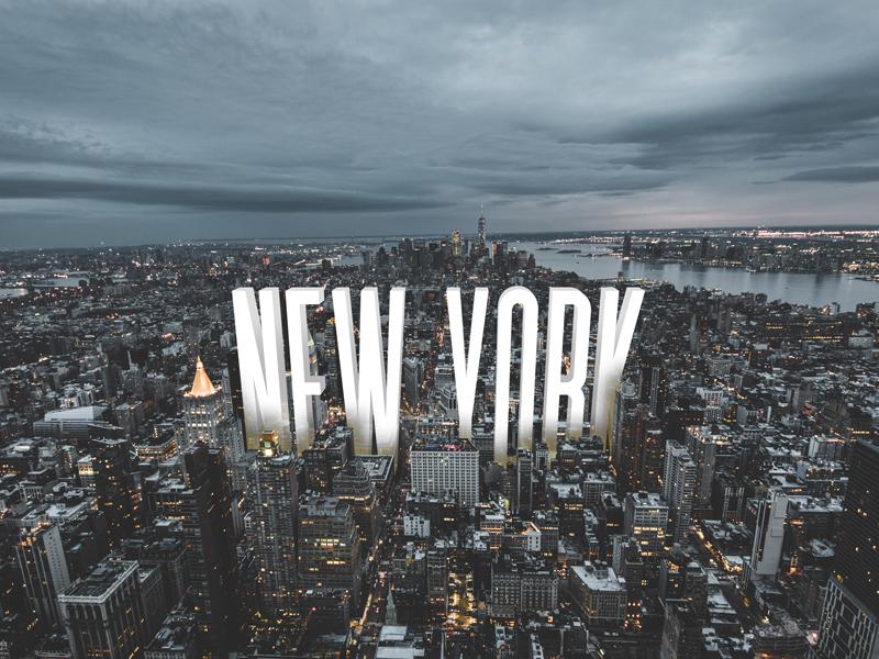New York 3d photo unsplash photoshop typeface font typography lettering