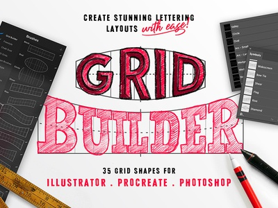 Grid Builder procreate calligraphy lettering type typography letter hand-lettering