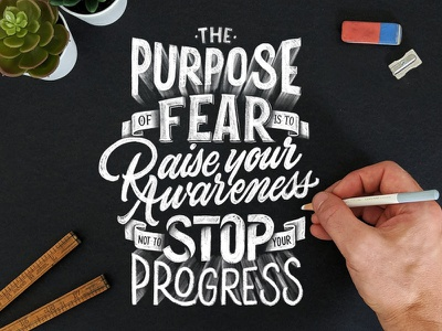 Purpose of Fear procreate brush-script calligraphy lettering type typography letter illustrator photoshop vector hand-lettering